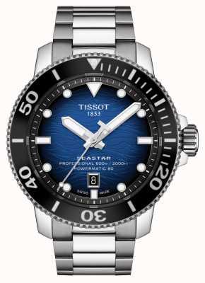 Tissot Seastar 2000 pro | powermatic 80 | esfera azul | acero T1206071104101