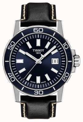 Tissot Supersport | esfera azul | correa de cuero negro T1256101604100
