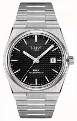 Tissot Prx 40 205   powermatic 80   esfera negra   acero inoxidable T1374071105100