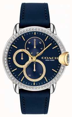 Coach Arden de mujeres | correa de cuero azul | esfera azul 14503734