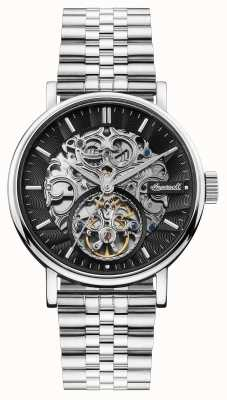Ingersoll | el charles automatic | esfera esqueleto negra | correa de acero I05804B