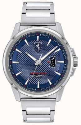 Scuderia Ferrari Gran gira masculina | pulsera de acero inoxidable | esfera azul 0830835