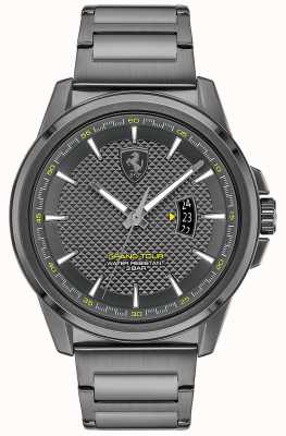 Scuderia Ferrari Gran gira masculina | pulsera de acero ip gris | esfera gris 0830836