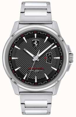Scuderia Ferrari Gran gira masculina | pulsera de acero inoxidable | esfera negra 0830834