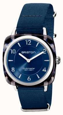 Briston Clubman chic | esfera plateada 36mm azul marino | correa nato azul marino 21536.SA.UB.33.NMB