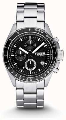 Fossil Caballeros de plata cronógrafo reloj de moda CH2600IE