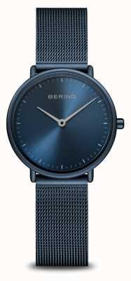 Bering Reloj monocromático azul ultradelgado clásico 15729-397