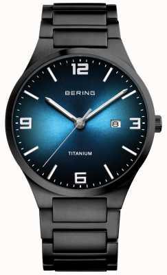 Bering Reloj de titanio chapado en negro para hombre 15240-727