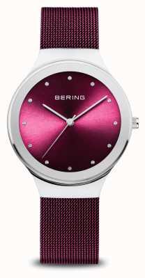 Bering Clásico | mujer | plata pulida | malla morada 12934-909