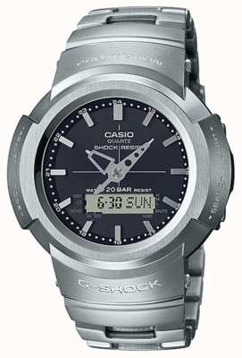 Casio G-shock | pulsera de metal completo | esfera negra | controlado por radio AWM-500D-1AER
