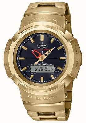 Casio G-shock | pulsera de metal completo | chapado en oro | controlado por radio AWM-500GD-9AER