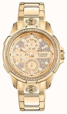 Versus Versace 6eme arrondissment reloj de oro engastado con cristales VSP1M0521