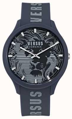 Versus Versace Reloj domus azul con correa de silicona para hombre VSP1O0221