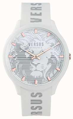 Versus Versace Reloj domus blanco con correa de silicona para hombre VSP1O0421