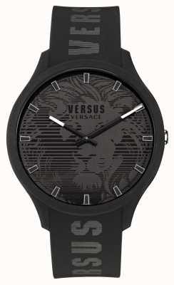 Versus Versace Reloj domus negro con correa de silicona para hombre VSP1O0521