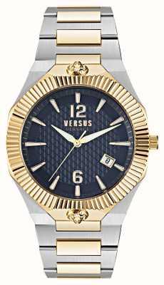 Versus Versace Reloj Echo Park de doble tono con esfera azul VSP1P0521