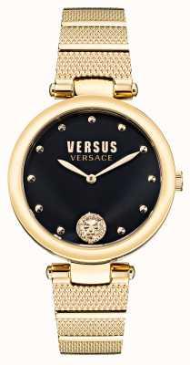 Versus Versace Reloj Versus los feliz de acero bañado en oro VSP1G0621
