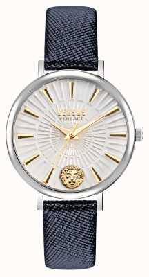 Versus Versace Versus reloj para mujer mar vista con correa de cuero VSP1F0121