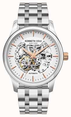 Kenneth Cole Automático | esfera plateada | pulsera de acero inoxidable KC10027198A