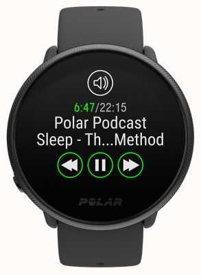 Polar Ignite 2 | perla negra | rastreador de actividad y hr | correa de silicona negra | s / l 90085182