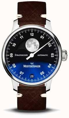 MeisterSinger Stratoscope 43mm correa de piel ST982