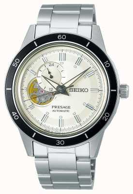 Seiko Reloj presage estilo años 60 con esfera color crema SSA423J1