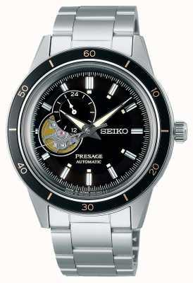 Seiko Reloj presage estilo años 60 con esfera negra SSA425J1