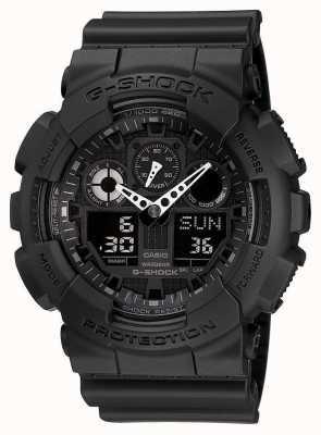 Casio G-choque de alarma cronógrafo negro GA-100-1A1ER