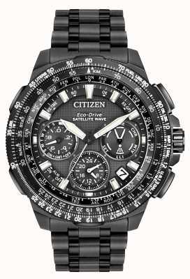 Citizen Onda de satélite GPS navihawk | super titanio negro | cc9025-51e CC9025-85E