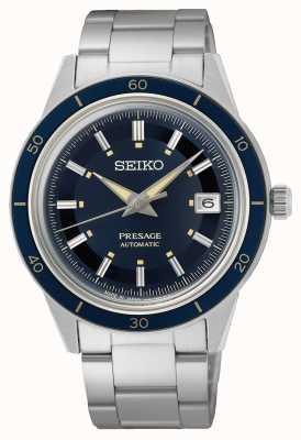 Seiko Reloj presage estilo años 60 con esfera azul SRPG05J1