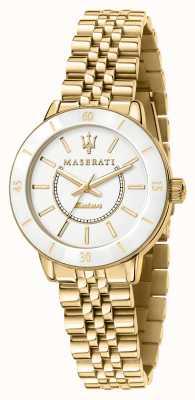 Maserati Reloj successo solar bañado en oro para mujer R8853145502