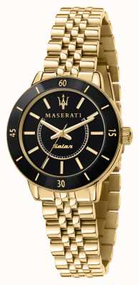 Maserati Reloj successo solar negro y dorado para mujer R8853145503