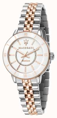 Maserati Reloj successo solar de dos tonos para mujer R8853145504
