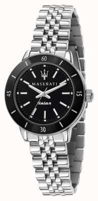 Maserati Reloj successo solar con esfera negra para mujer R8853145506