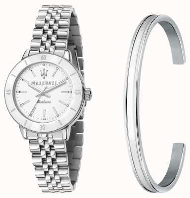Maserati Set de regalo con reloj y brazalete Successo solar lady R8853145507