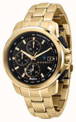 Maserati Reloj Successo solar para hombre chapado en oro R8873645002