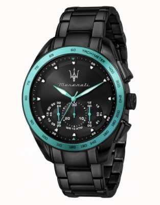 Maserati Reloj traguardo aqua edition chapado en negro R8873644002