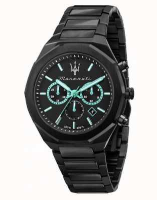 Maserati Reloj stile aqua edition chapado en negro R8873644001