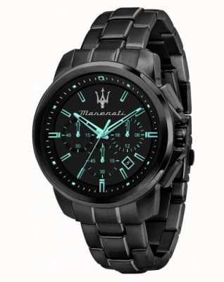 Maserati Reloj Successo aqua edition chapado en negro R8873644003