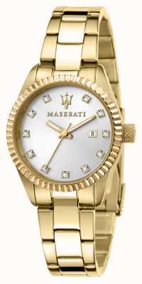 Maserati Reloj competizione chapado en oro para mujer R8853100506