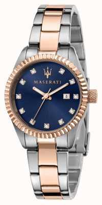 Maserati Reloj competizione dual tone para mujer R8853100507