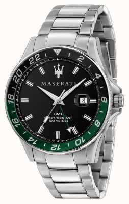 Maserati Bisel sfida gents de doble color negro / verde R8853140005