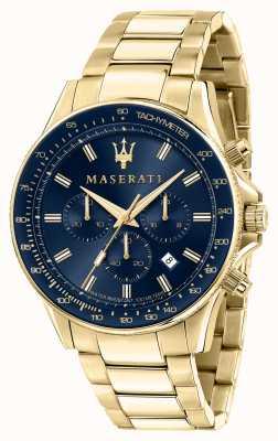 Maserati Reloj sfida para hombre chapado en oro amarillo R8873640008