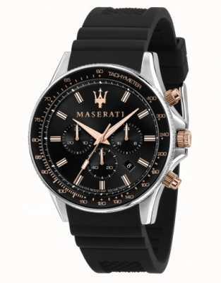 Maserati Reloj sfida para hombre con correa de silicona R8871640002