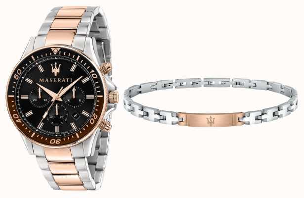 Maserati Set regalo sfida caballero pulsera y reloj R8873640010
