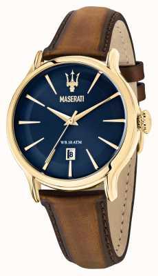 Maserati Correa de cuero marrón Epoca caballero R8851118012