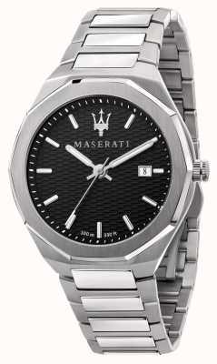 Maserati Reloj stile 3h data con esfera negra para hombre R8853142003