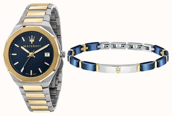 Maserati Stile 3h set de reloj y pulsera para hombre R8853142008