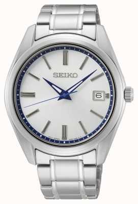 Seiko Reloj 140 aniversario con esfera blanca con rayos de sol SUR457P1
