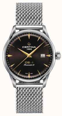 Certina Reloj ds-1 powermatic 80 con esfera marrón C0298071129102